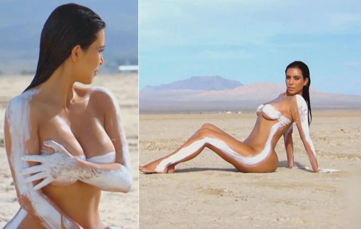 kim at the beach naked