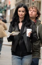 KRYSTEN RITTER on the Set of A.K.A. Jessica Jones in New York 05/21/2015