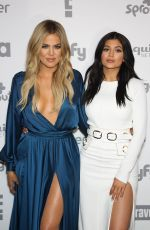 KYLIE JENNER and KHLOE KARDASHIAN at 2015 NBC/Universal Cable Entertainment Upfront in New York