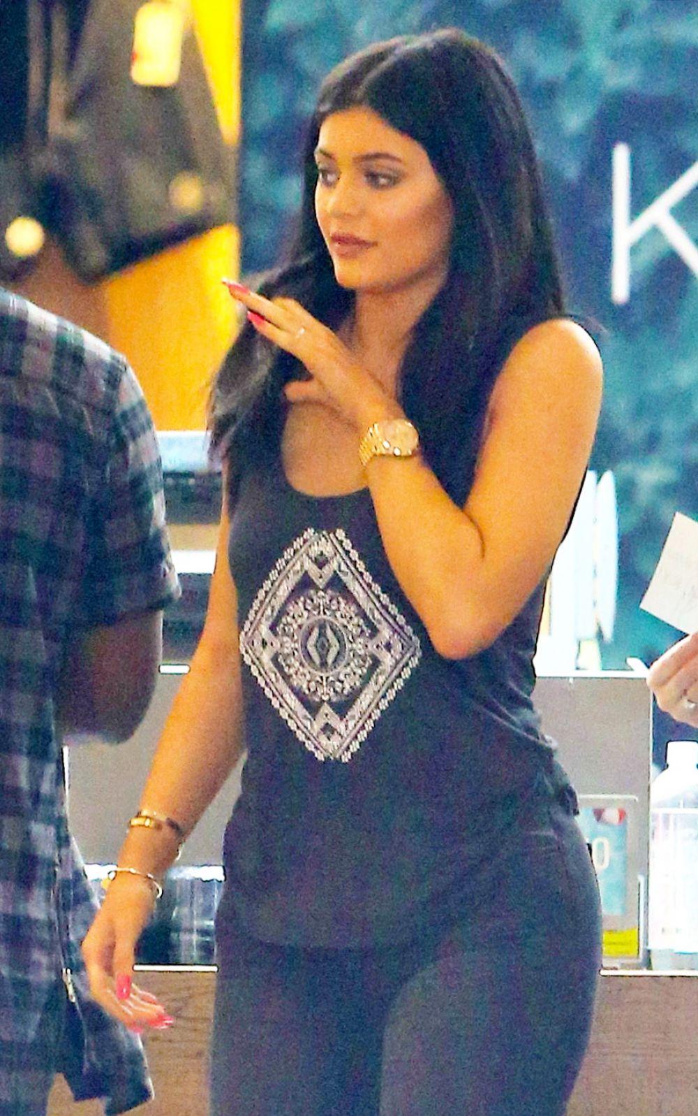KYLIE JENNER Leaves Pacsun in Santa Monica 05/30/2015