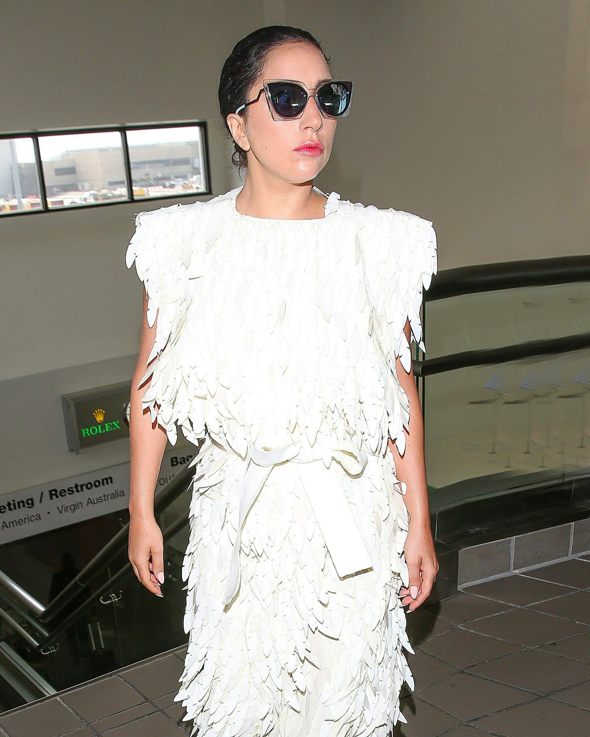 LADY GAGA Arrives Los Angeles International Airport 05/05/2015