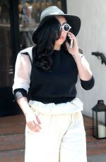 LADY GAGA Leaves Fig & Olive Restaurant in Los Angeles