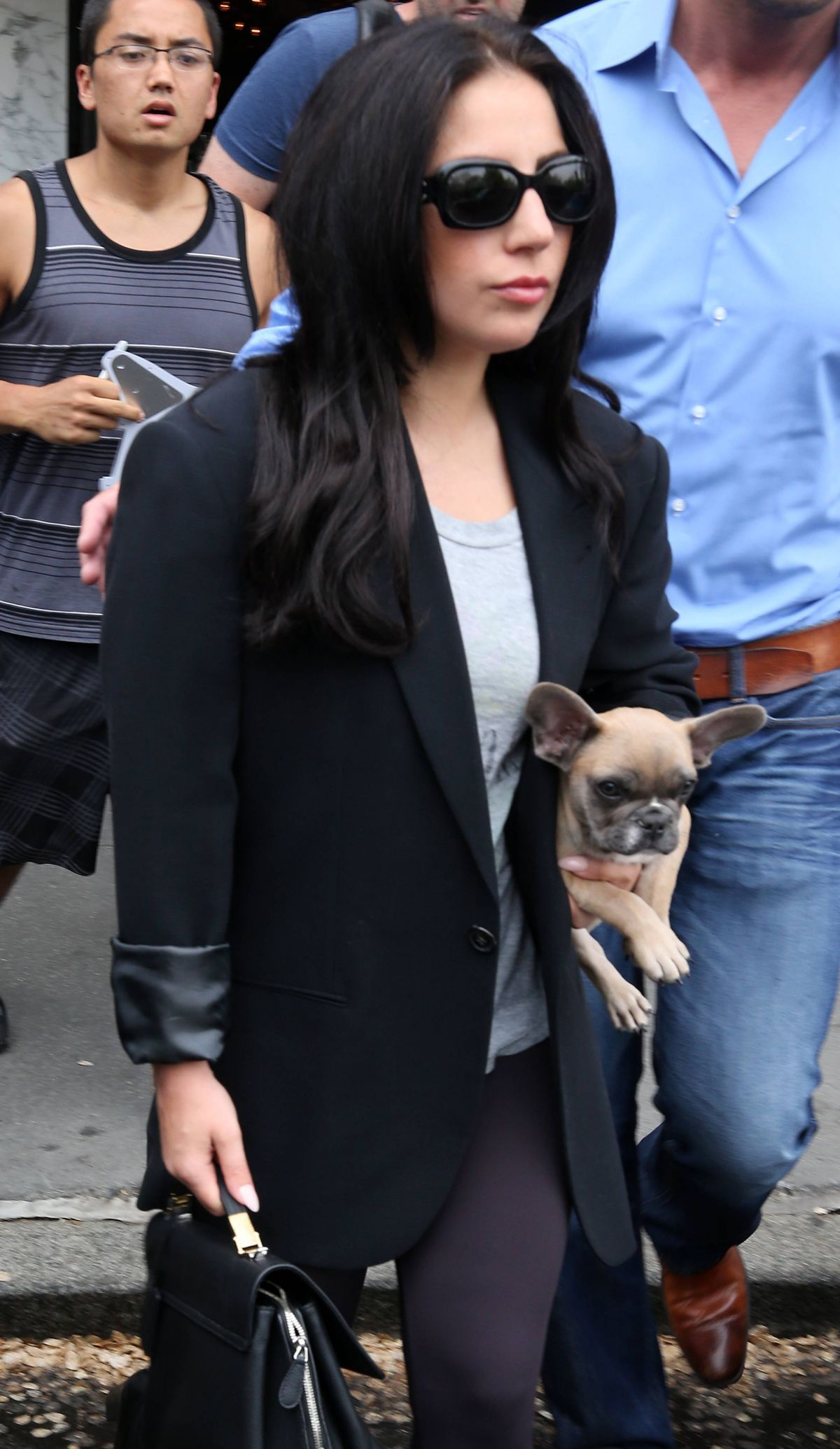 LADY GAGA Leaves Her Apartment in New York 05/12/2015