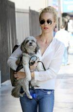 LAURA VANDERVOORT Walks Her Dog Out in Los Angeles 05/11/2015