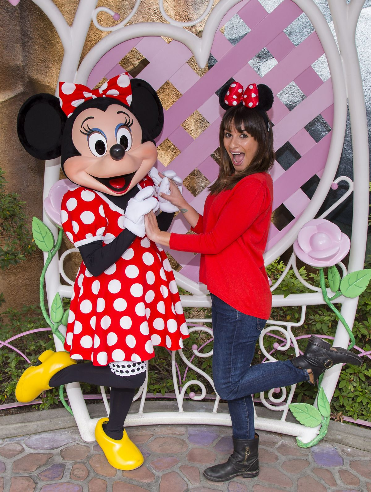 LEA MICHELE at Mickey
