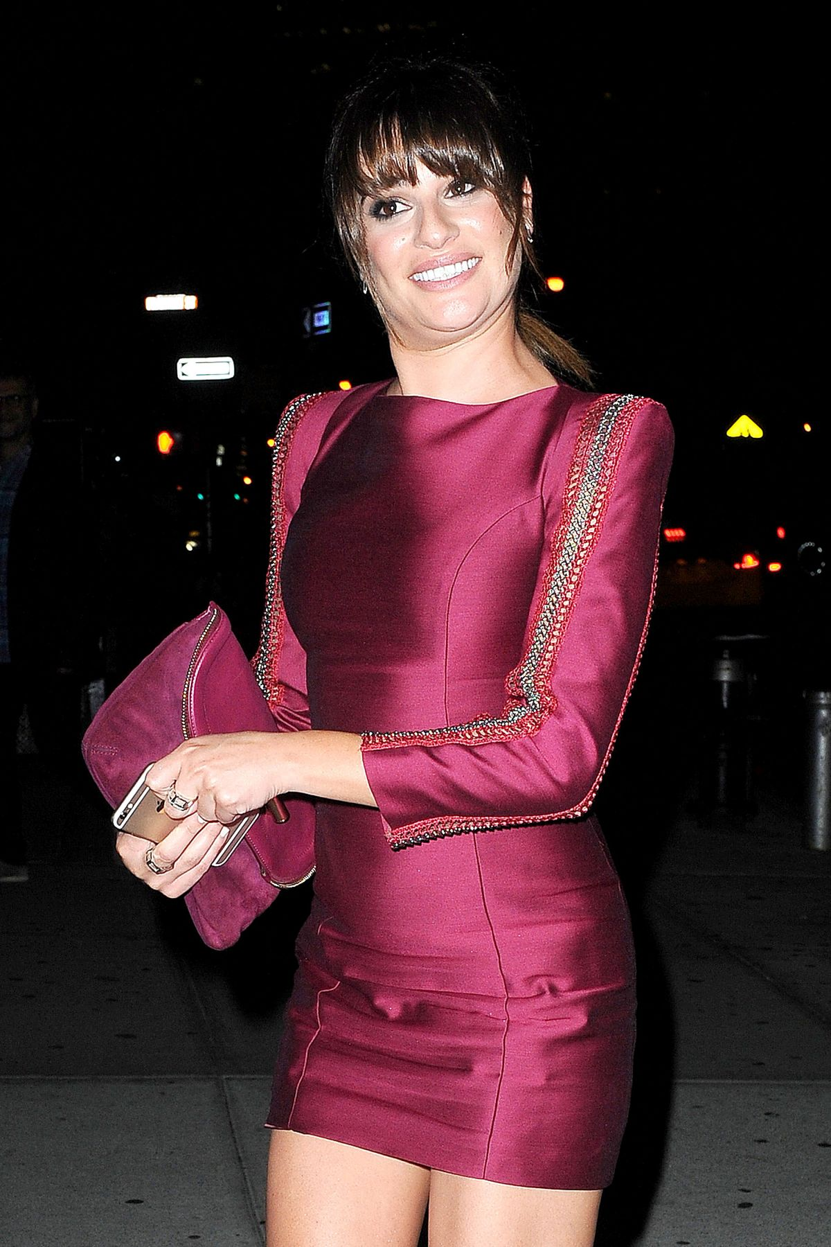 LEA MICHELE at New York Upfronts Party Hosted by People and EW at the Highline Hotel
