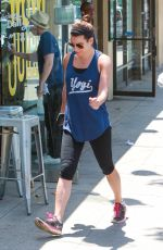 LEA MICHELE in Leggings Out in Brentwood 05/24/2015