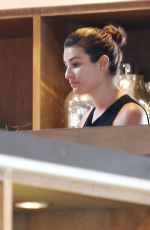 LEA MICHELE Out Shopping at West Elm in Los Angeles 05/05/2015