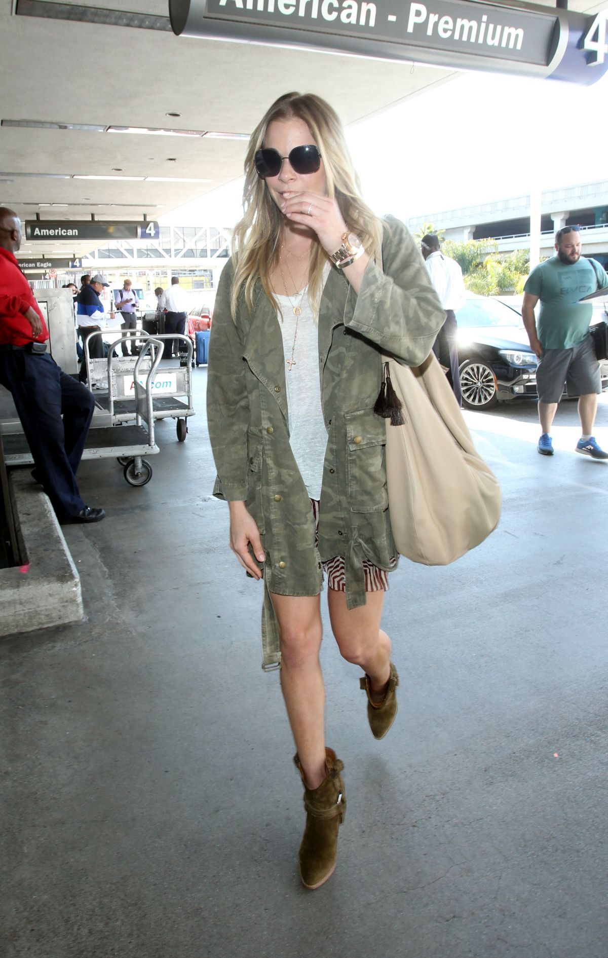 LEANN RIMES at LAX Airport in Los Angeles 05/22/2015