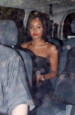 LEIGH-ANNE PINNOCK Leaves Downton Abbey Ball in London
