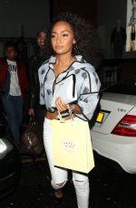 LEIGH-ANNE PINNOCK Leaves Nobu Restaurant in London 05/14/2015