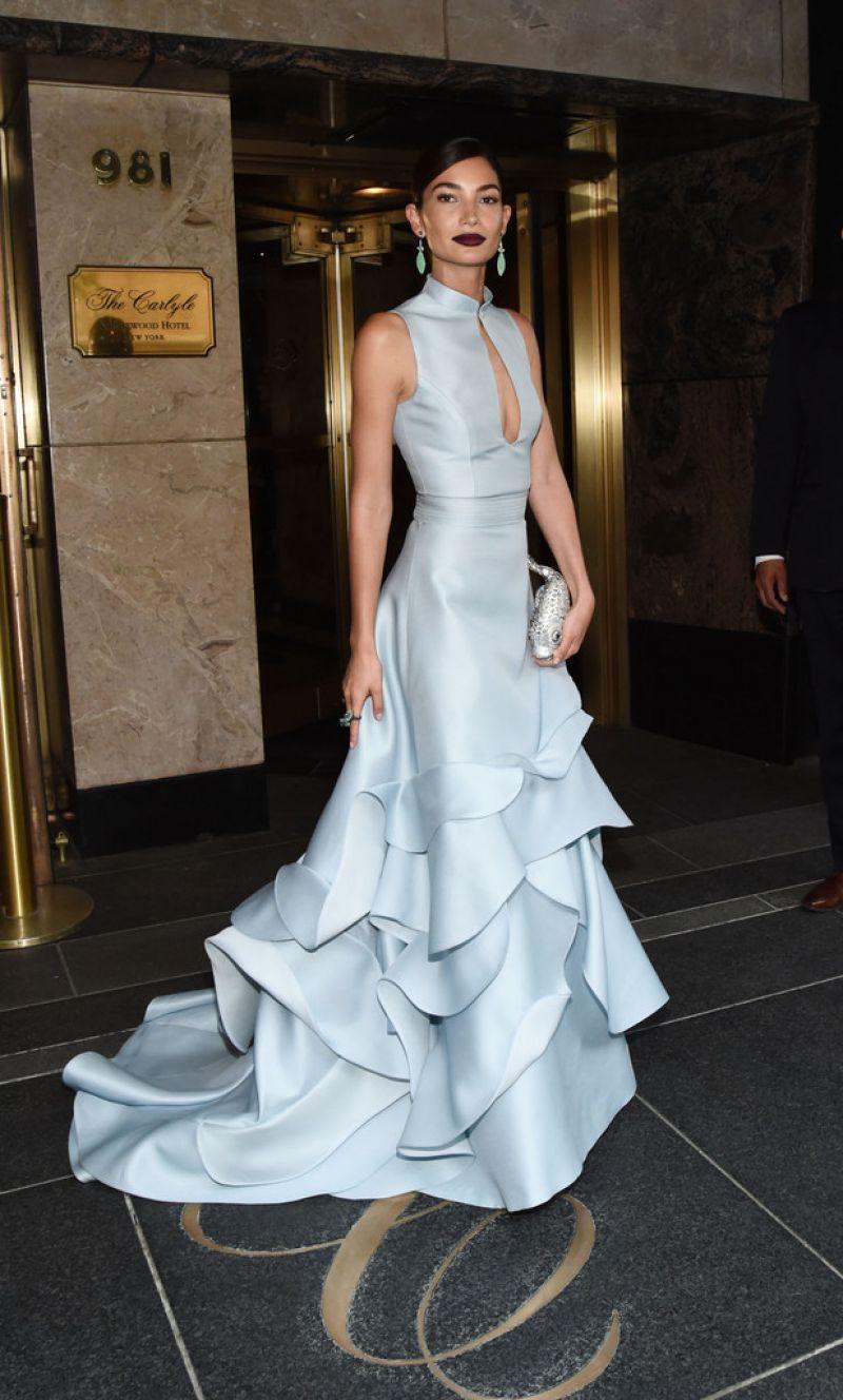LILY ALDRIDGE at MET Gala 2015 in New York