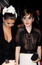 LILY COLLINS and SELENA GOMEZ Leaves Rihanna's MET Gala After Party in New York