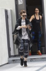 LILY COLLINS Leaves a Gym in West Hollywood 05/15/2015