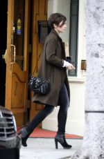 LILY COLLINS Leaves a Medical Clinic in Beverly Hills 05/08/2015