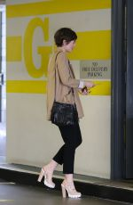 LILY COLLINS Out and About in Beverly Hills 05/28/2015