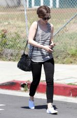 LILY COLLINS Out and About in Los Angeles 05/01/2015