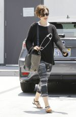 LILY COLLINS Out and About in Los Angeles 05/29/2015