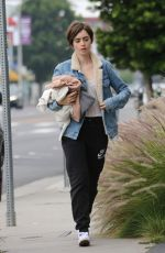 LILY COLLINS Out and About in West Hollywood 05/28/2015