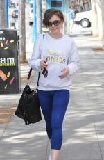 LILY COLLINS Out in Los Angeles 05/22/2015