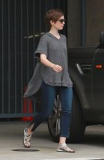 LILY COLLINS Visits a Friends in Larchmont Village