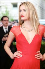 LILY DONALDSON at MET Gala 2015 in New York