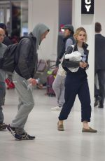 LILY JAMES Arrives at Airport in Adelaide 05/19/2015