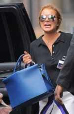 LINDSAY LOHAN Arrives to Complete Her Community Service in New York