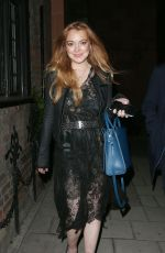 LINDSAY LOHAN Night Out in London 05/05/0015