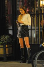 LINDSAY LOHAN Night Out in New York 05/20/2015