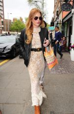 LINDSAY LOHAN Out and About in London 05/04/2015