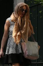 LINDSAY LOHAN Out and About in MIlan 04/28/2015