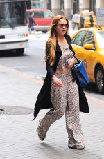 LINDSAY LOHAN Out and About in New York 05/28/2015
