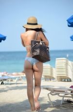 LISA OPIE in Bikini at a Beach in Miami 05/08/2015