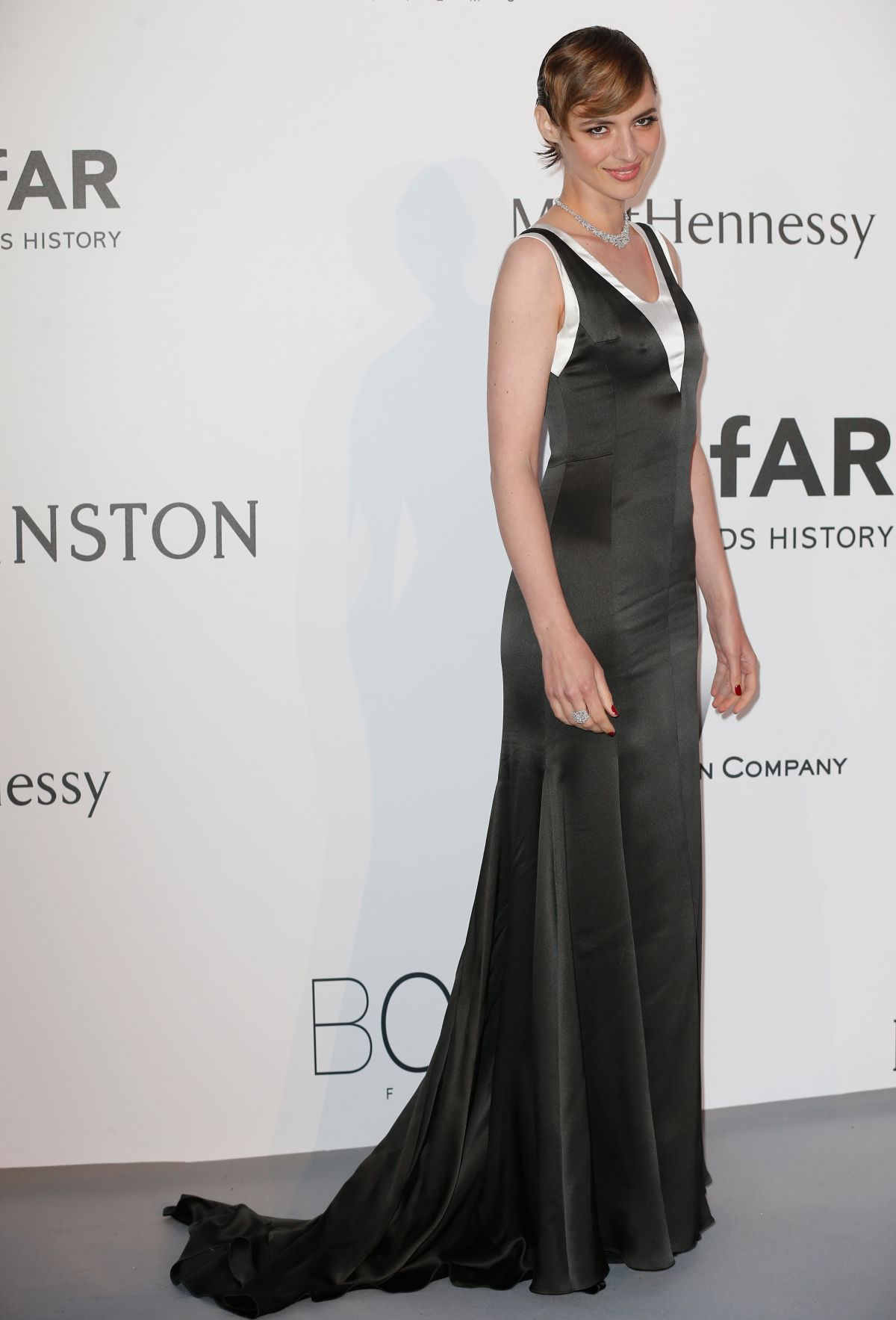 LOUISE BOURGOIN at Amfar's 2015 Cinema Against Aids Gala in Cap d'Antibes