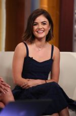 LUCY HALE at Fox & Friends in New York