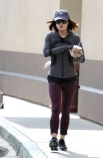 LUCY HALE Out fro Morning Coffee in Los Angeles 05/07/2015