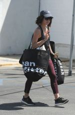 LUCY HALE Out Shopping in Los Angeles 04/29/2015
