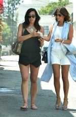 LUCY MECKLENBURGH Shopping at Intermix in Los Angeles
