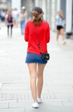 LUCY WATSON in Shorts Out in London 05/27/2015