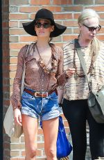 MAGGIE Q in Daisy Dukes Out in New York 05/03/2015