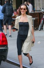 MAGGIE Q Out and About in New York 05/03/2015
