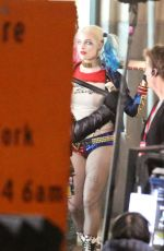 MARGOT ROBBIE on the Set of Suicide Squad in Toronto 05/03/2015