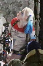 MARGOT ROBBIE on the Set of Suicide Squad in Toronto 05/13/2015