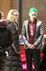 MARGOT ROBBIE on the Set of Suicide Squad in Toronto 05/17/2015