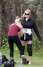 MARGOT ROBBIE on the Set of Suicide Squad in Toronto 05/27/2015