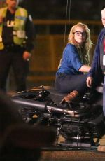 MARGOT ROBBIE on the Set of Suicide Squad in Toronto 05/28/2015