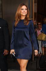 MARIA MENOUNOS Leaves Trump Soho Hotel in New York 05/14/2015