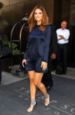 MARIA MENOUNOS Leaves Trump Soho Hotel in New York 05/14/2015