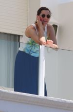 MARION COTILLARD at Hotel Balcony in Cannes 05/17/2015